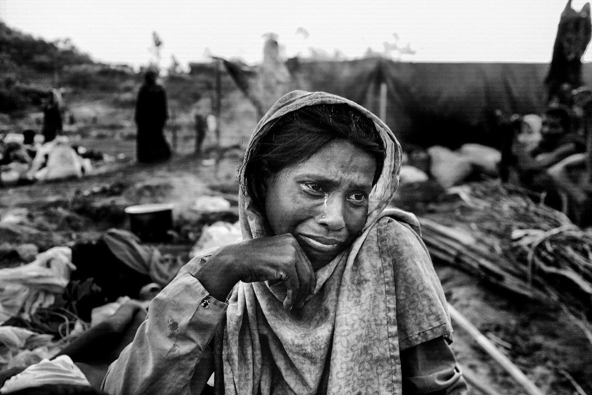 Shajeda Begum (46) has lost her house, land, and relatives during the Myanmar Army raid. Currently, she is homeless and could not find shelter in Bangladesh.