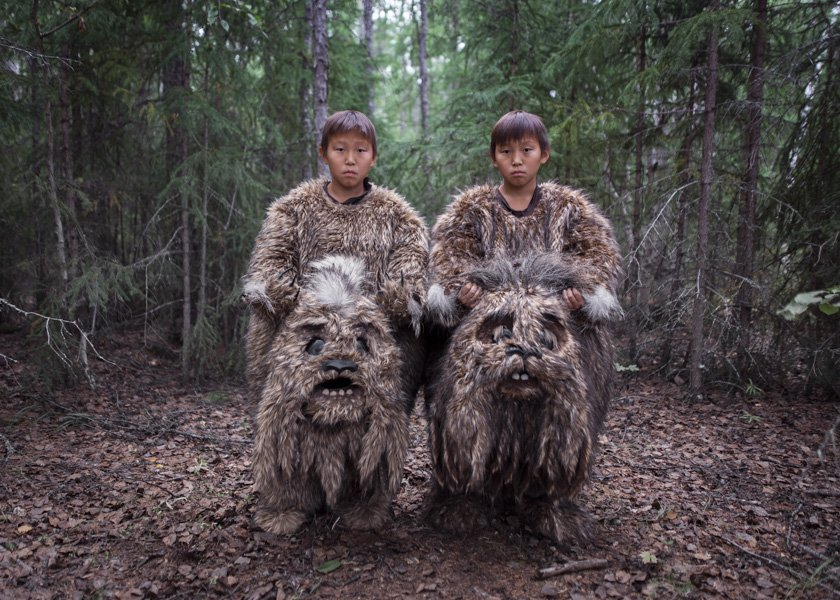 "Twins Semyon and Stepan starred in the fairy tale ""The Old Beyberikeen"" as the ""dulgancha"" – mythical creatures from the swamps."